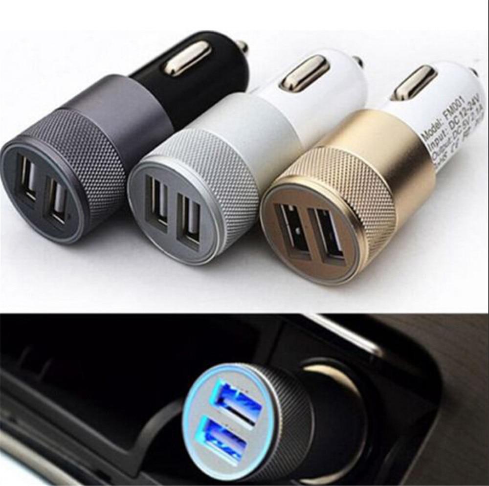 1 Pc Dual USB encendedor de cigarrillos del zócalo cargador de coche doble 2 12V 12V 3,1 AMP 3 colores cargadores de teléfono móvil