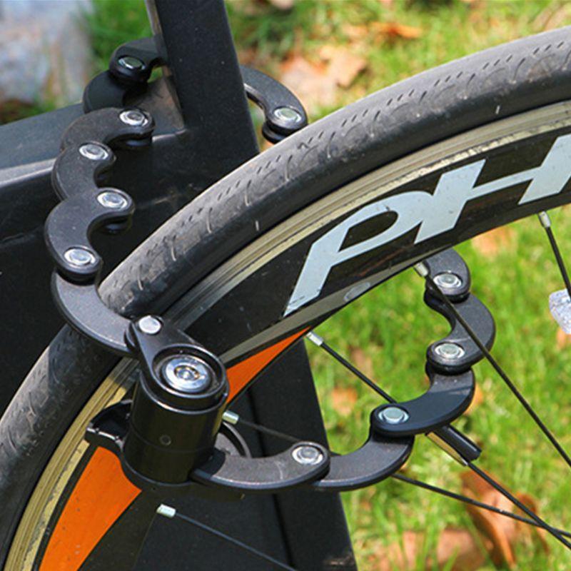 Cadena de bloqueo de bicicleta plegable de bloqueo de alambre de aleación Bycicle antirrobo suministros de seguridad