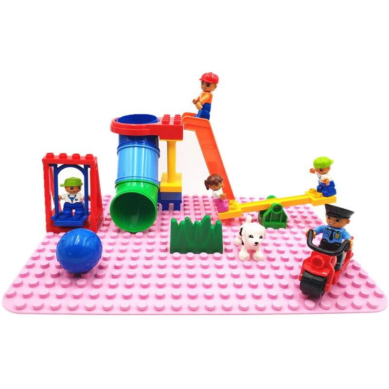 Большой размер Diy строительные блоки аксессуары трубка Seesaw качели фигурка совместима с Duploed Кирпичи игрушки для детей подарок для детей