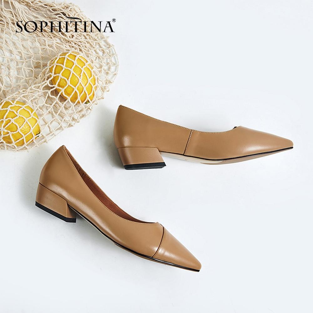 Foitina-حذاء نسائي كاجوال بمقدمة مدببة ، أحذية عصرية ، جلد طبيعي ، صلب ، مثير ، عرض خاص ، SO123