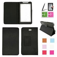 Für Alcatel Onetouch Pixi 7 3g 7 zoll Tablet PU Leder Abdeckung Fall 8 Farben + Stylus Stift + screen Protector Kostenloser Versand