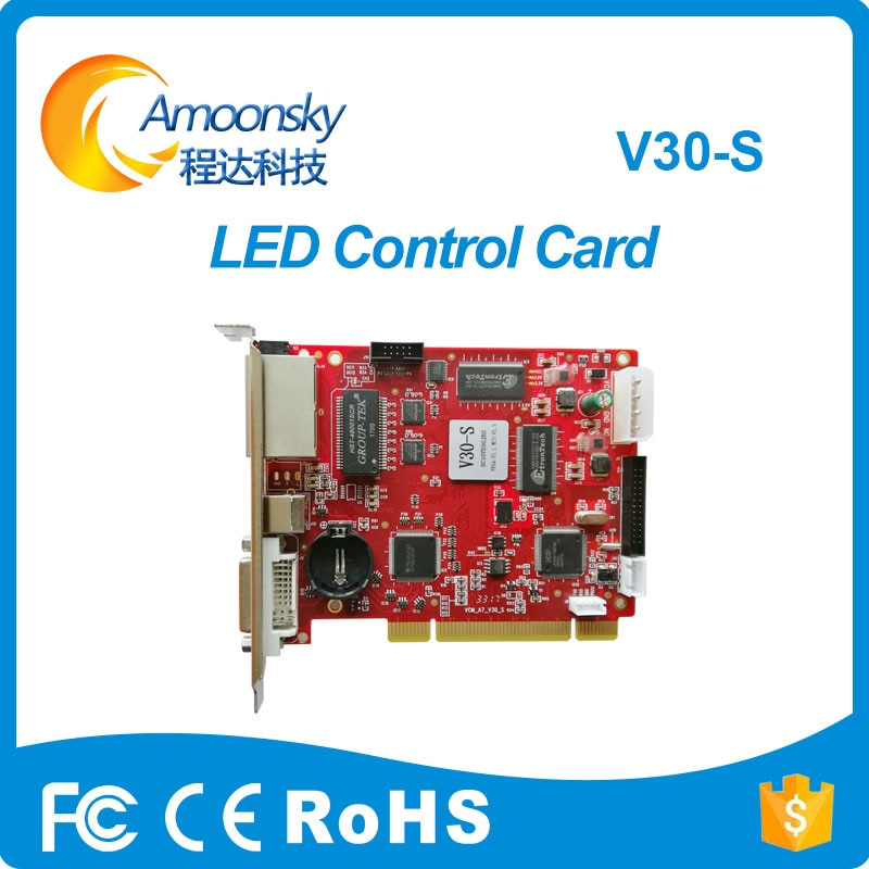Emisor de LED Mooncell V30-S Alquiler de escenario pantalla de vídeo a todo Color Tarjeta de envío reemplazar VCMA7-V30 VCMA7-V1.2 VCMA7-V10 VCMA7-V20