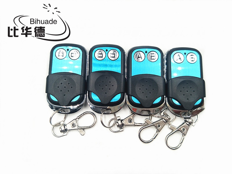 315 mhz código de aprendizaje remoto 1527 EV1527 2 canales eléctrico 315 mhz llave Fob aprendizaje puerta de garaje interruptor de luz controlador