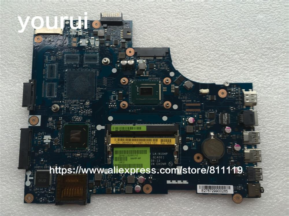 Для DELL INSPIRON 15 3521 5521 VAW00 ноутбук для материнская плата 6H8WV 06H8WV CN-06H8WV VAW00 LA-9104P без Графика w/1007u