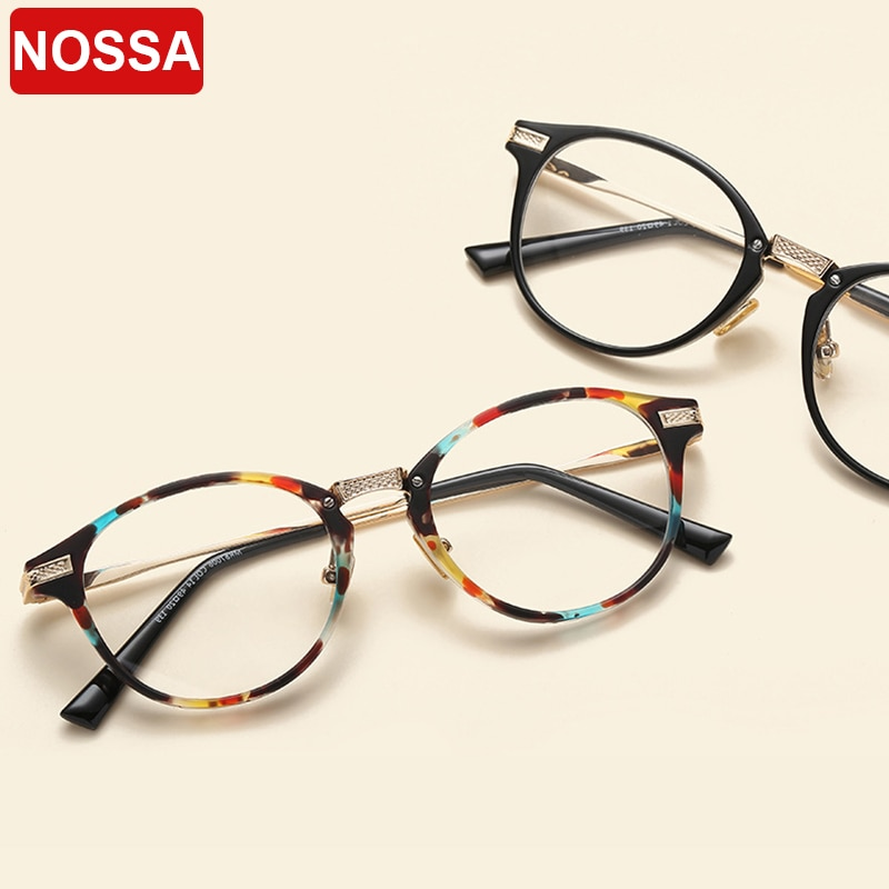 Nuevo espejo plano de gama alta TR90 montura de gafas marco de metal redondo Marco de gafas de moda marco decorativo de gafas.