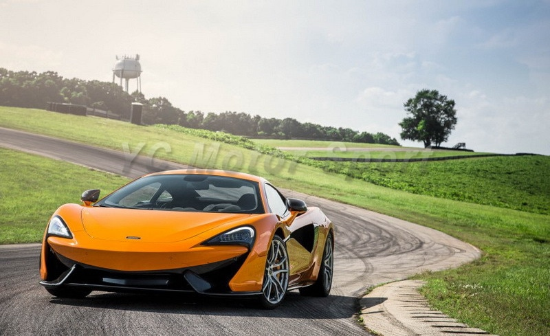 Couvercle de pare-choc avant et capot   Accessoires de voiture en Fiber de carbone de Style OEM, adapté pour séparateur de lèvre avant 2016-2017 McLaren 570S