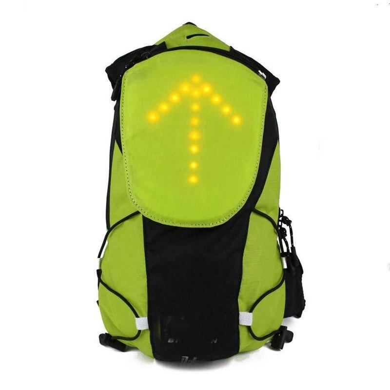 Mochila reflectante con luz LED de intermitente para chaleco, mochila para cintura, negocios, viajes, ordenador portátil, mochila escolar para deportes al aire libre, impermeable para seguridad