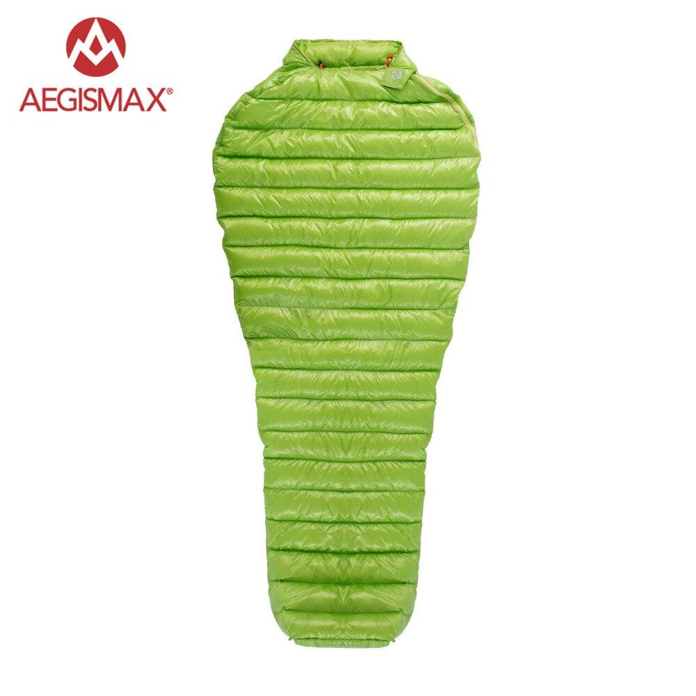 AEGISMAX, bolsa de dormir ultraligera para acampada al aire libre 95% de ganso hacia abajo, bolsa de dormir de tres estaciones, bolsa para perezosos al aire libre