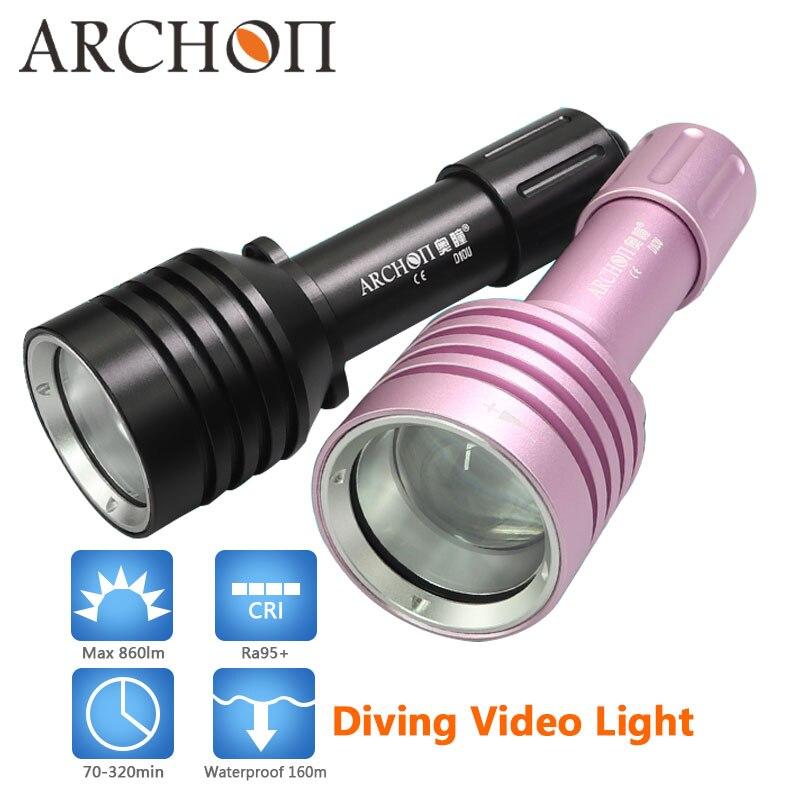 ARCHON impermeable 60 m luz DE BUCEO CREE linterna de buceo LED antorcha Zoom lámpara de luz de alta calidad buceo foto video iluminación