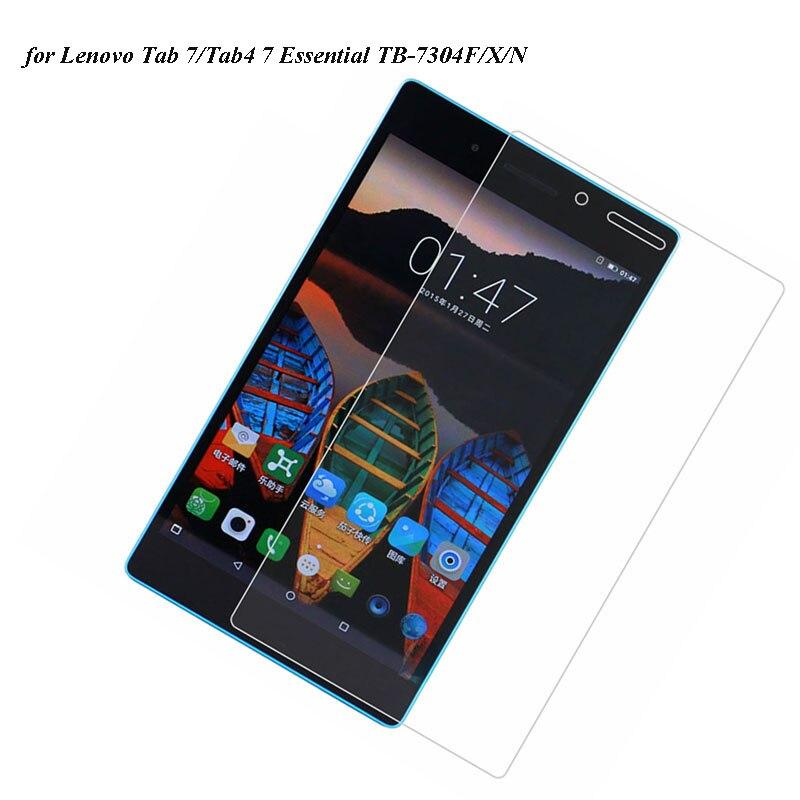 500 unids/lote para Lenovo TB-7304F/N/X protectores de pantalla de vidrio templado para Lenovo Tab 7/Tab4 7,0 Essential TB7304