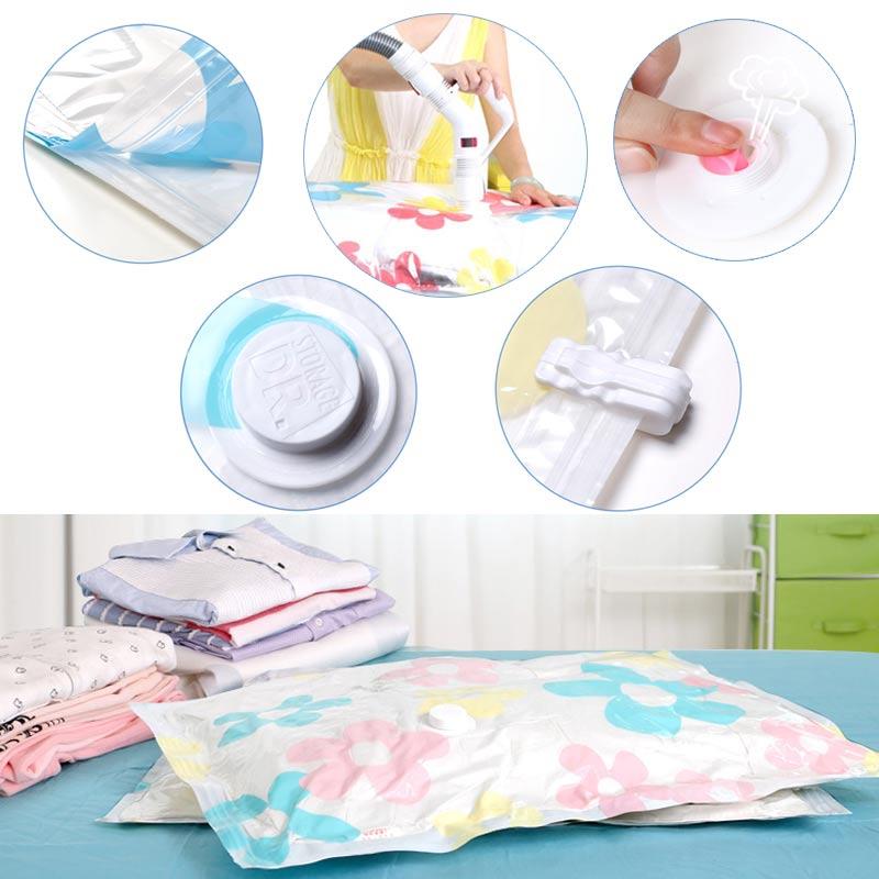 11 Pcs/ Set Storage Bag Blanket Clothes Quilt Organizer Bags with Hand Pump Home Thick Vacuum Storage Bag Vacuum Compressed Bags