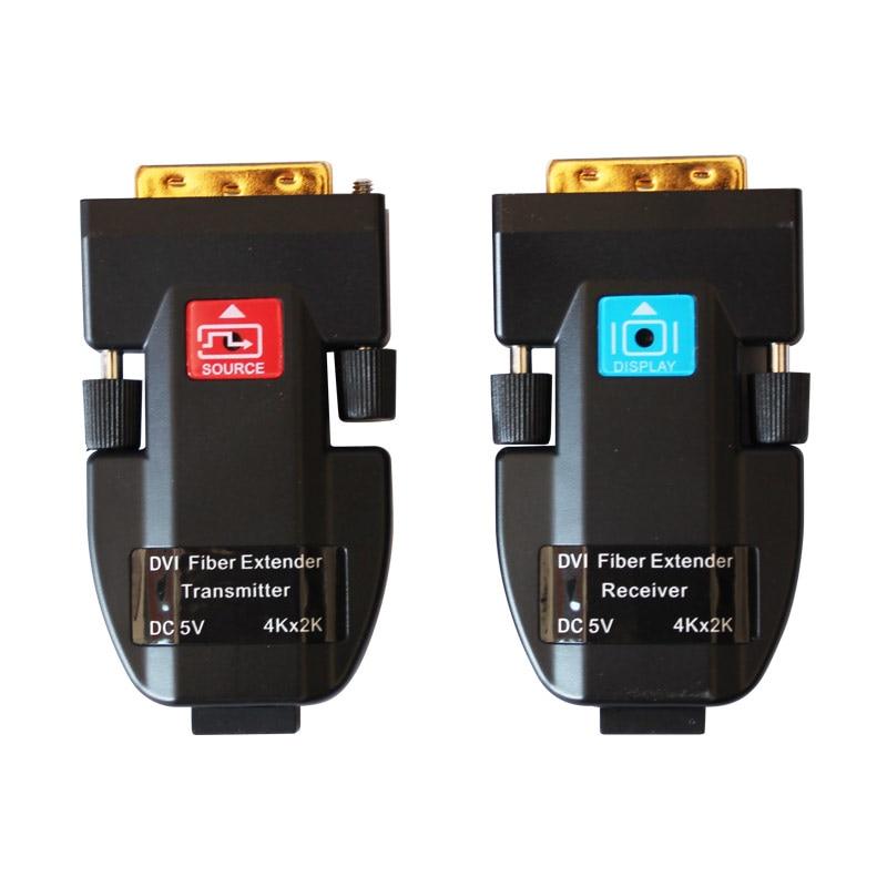 4k * 2k de fibra óptica DVI Extender apoyo 2km 3840*2160 @ 30Hz para 256*128mm 64*32 Módulo de píxeles Pantalla de panel