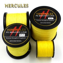 Hercules 100M 300M 500M 1000M 1500M 2000M PE jaune Spectra 8 brins 10lb-200lb océan bateau pêche tressé ligne de pêche