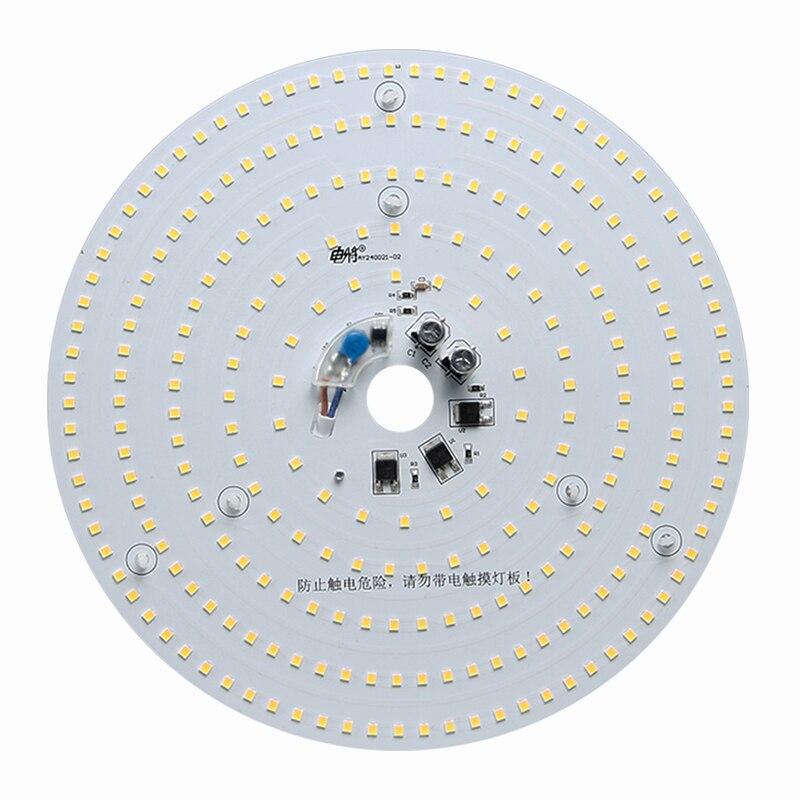 220 v Circular 40 w Brilhante Escurecimento Fonte de Luz CONDUZIU a Lâmpada Do Teto Lâmpada Retrofit Placa Remontagem do Agregado Familiar Luz de Poupança de Energia disco