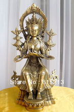 Wang 00072 Tibet Budismo Maitreya Estátua de buda de Bronze