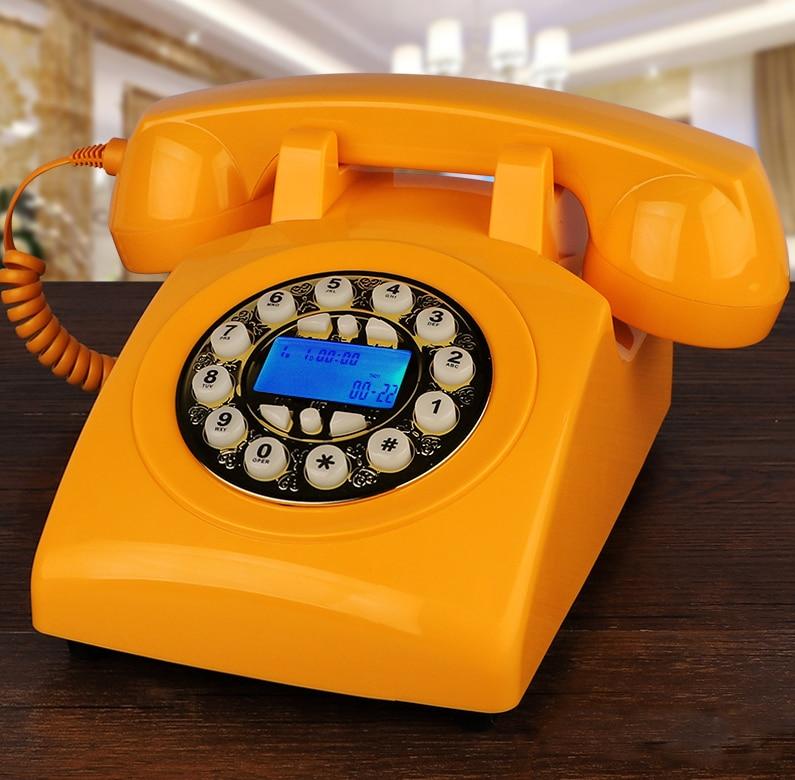 Teléfono fijo vintage para el hogar, celular de corte antiguo hecho de...