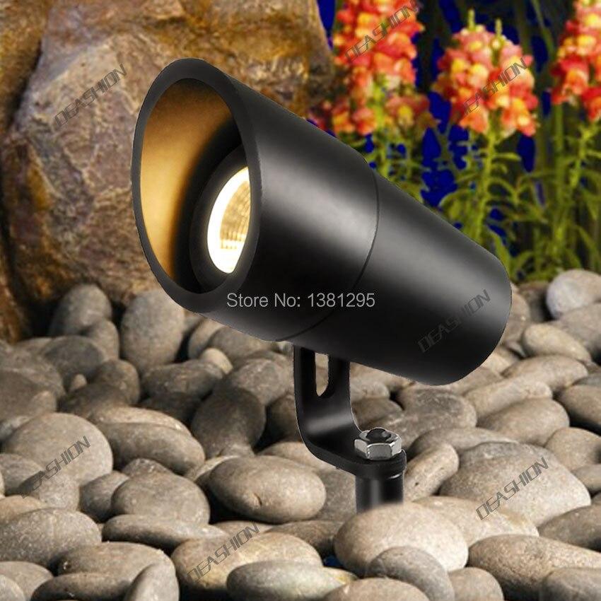 Diodo emissor de luz do jardim 12 v 3 w cob ip67 à prova dip67 água jardim ao ar livre ponto luz pico conduziu a lâmpada do gramado prikspot tuinspot iluminação da paisagem