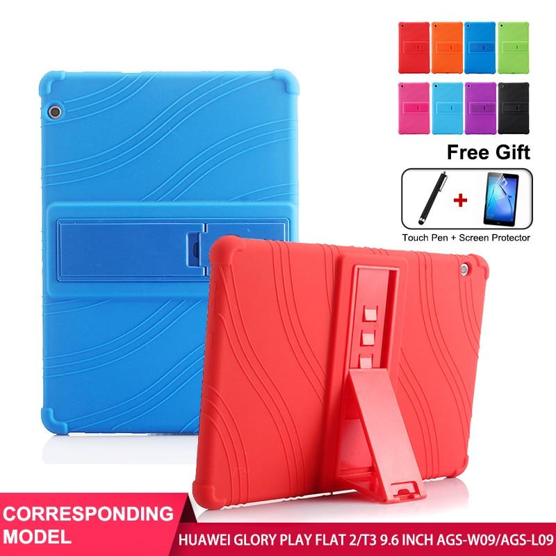 Чехол SZOXBY для Huawei Glory Play Tablet 2 T3, защитный чехол 9,6 дюйма, чехол AGS-L/W09, противоударный силиконовый моющийся чехол чехол