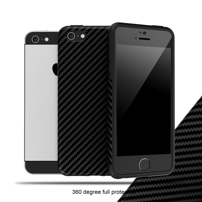 Luksusowe Elegent Wysokiej Jakości Włókna Węglowego Miękki Futerał Dla iPhone 5 5S SE Skórzana Skóry Tekstury Opon 3D Obrońca Pokrywa Dla iPhone SE 8