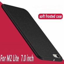 Pour huawei M2 Lite PLE-703L housse Silicone grès souple Tpu etui téléphone huawei MediaPad T2 7.0 tablette protecteur couverture arrière