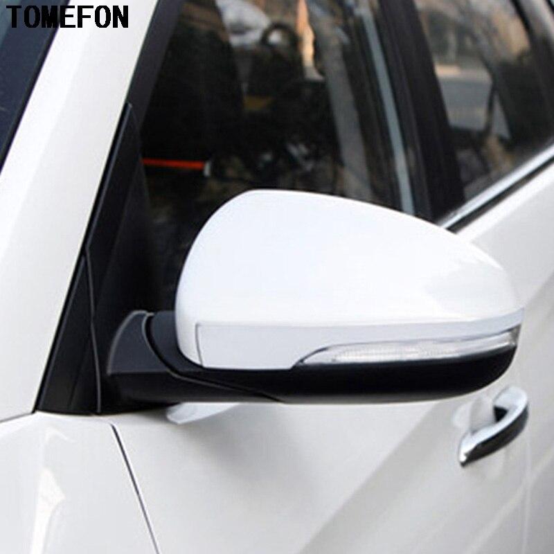 Tomepon 2 uds para Hyundai Tucson 2016 2017, espejo retrovisor de acero inoxidable, tira de ajuste, moldura decorativa, embellecedor de estilo de coche