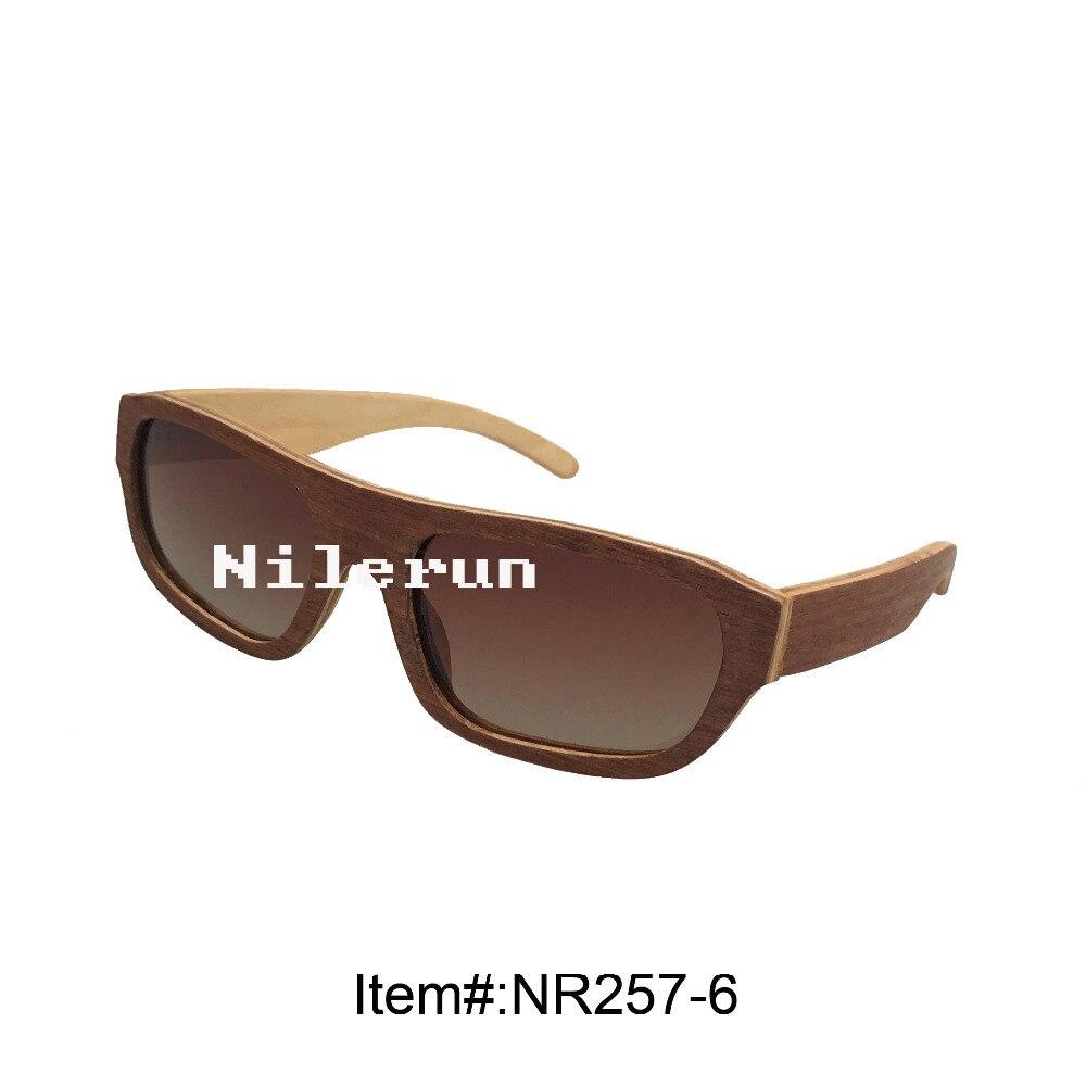 fashion ultra light brown veneer wood sunglasses