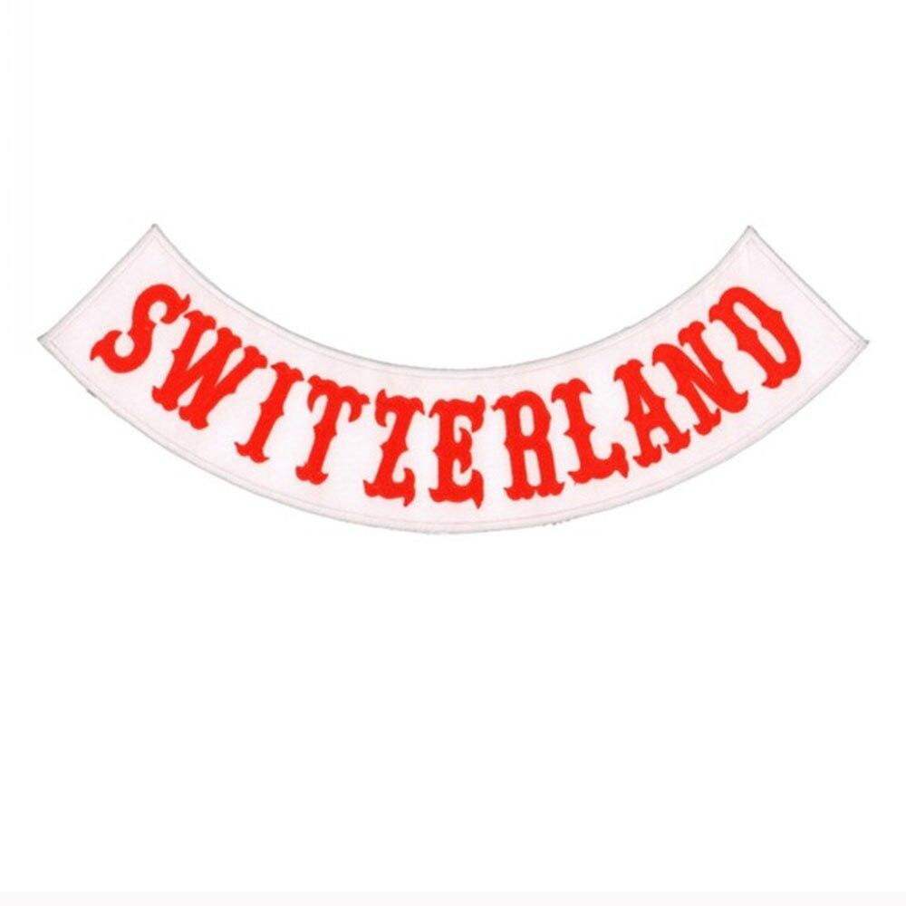 Parche de motorista de Suiza para respaldo de chaqueta, bordado de motocicleta punk, insignia de motorista de esqueleto, Parche de Calavera, accesorio de ropa