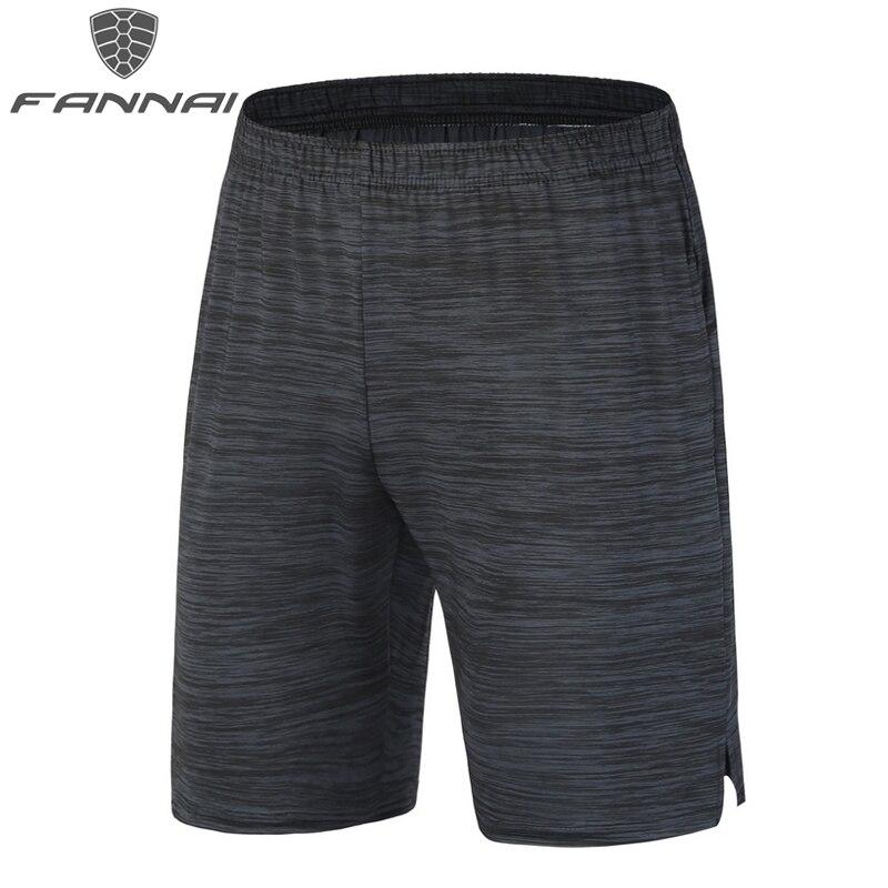 Pantalones cortos de entrenamiento deportivo de fútbol para hombre de FANNAI, pantalones cortos de entrenamiento deportivo para gimnasio con rayas negras y ajuste seco AM328
