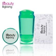 BeautyBigBang Double tête Silicone ongle Stamper clair vert gelée 2.2cm 2.8cm manucure tête ongles Art estampage grattoir outil