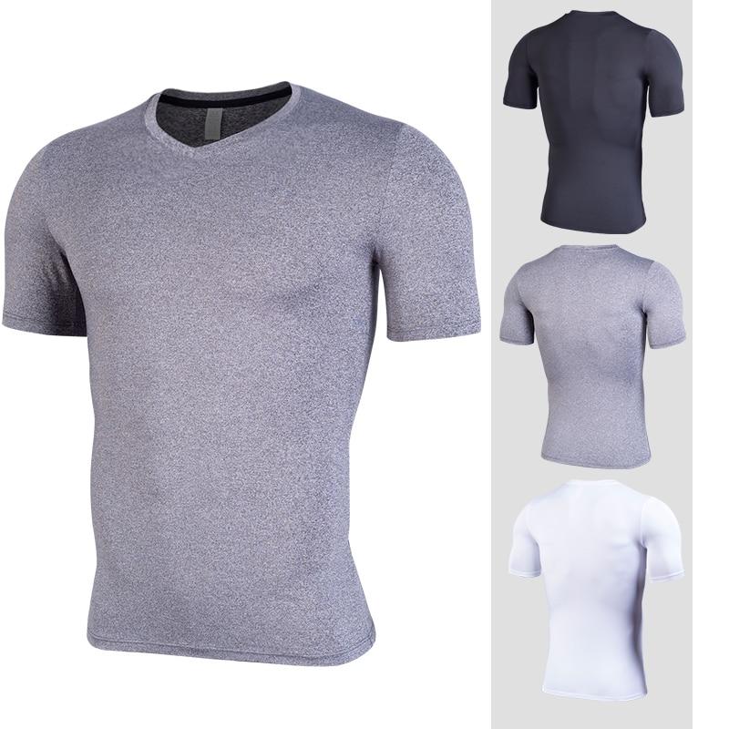 Gym Shirt Dry Breathable Rashguard male  Sport Gym Shirt Men Fitness Tights Top Soccer Jerseys Running T-Shirt Demix Men's Sport