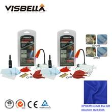 VISBELLA Kit de réparation de vitres de pare-brise   2 pièces de voiture, Kit de réparation de vitres de pare-brise avec tissu, puces de grattage, garnitures de restauration de pare-brise, adhésifs scellants