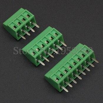 50PCS 2.54MM PCB Universal  Screw Terminal Blocks Connector 2/3/4/5/6/7/8/9/10-12 Pin/Poles KF120 Straight Pin Copper RoHS