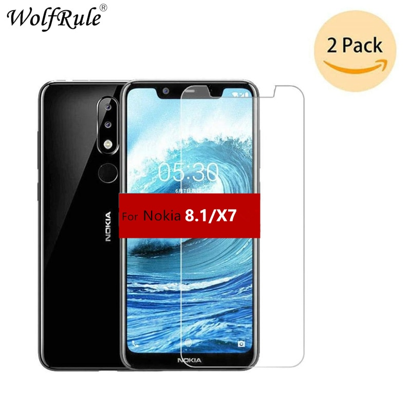 2PCS Screen Protector For Nokia 8.1 Glass Nokia 8.1 2018 Ultra Thin 9H Hardness Tempered Glass For N
