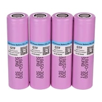 high capacity 18650 3 7v 3000mah battery inr18650 30q 20a discharge 18650 rechargeable li ion battery for flashlight torch fan