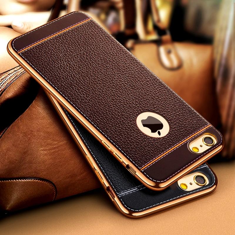 Роскошный 3D кожаный Ретро чехол для телефона iPhone 11 Pro XS Max XR X 7 8 5 5S SE 6 6S Plus, Мягкий ТПУ силиконовый чехол