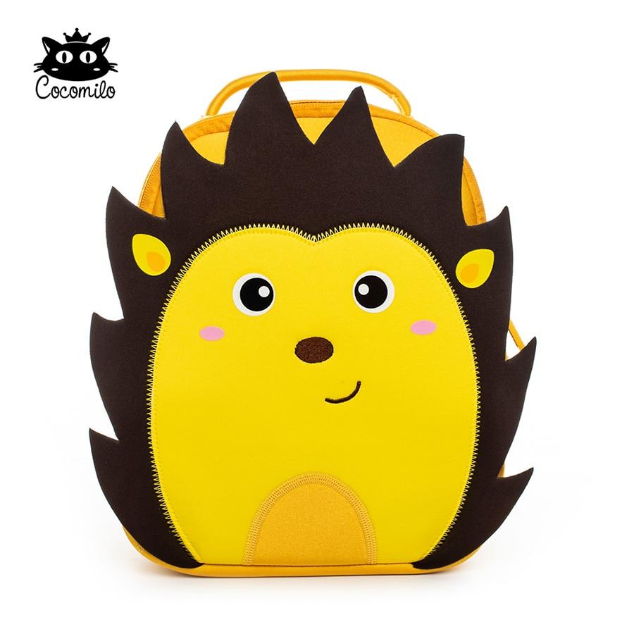 Cartoon 3D Hedgehog Kindergarten Zoo Animal Little Kids Small School Bag Light Lion Backpack 3-6 Years Girls Boys Toddler Bag