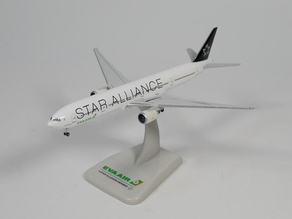 Hogan 1500 EVA AIR Boing 777-300ER B-16701 STAR ALLIANCE, modelo de avión fundido a presión