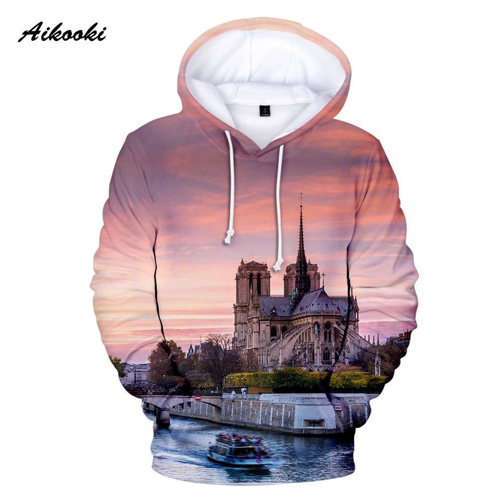 Notre Dame de París, sudaderas con capucha de los hombres/de las mujeres con capucha sudaderas con capucha para hombre para siempre de Notre Dame de París Polluver chaqueta de chándal