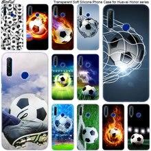 Hot Fußball Fußball Ball Silikon Telefon Fall für Huawei Ehre 20 20i 10 9 8 Lite 8X 8C 8A 8S 7S 7A Pro Ansicht 20 Mode Abdeckung