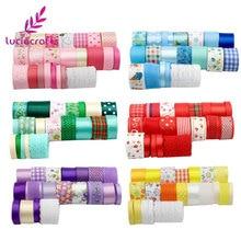 Набор лент в разноцветном стиле, 6-45 мм, лента для корсажа, отделка, кружево для рукоделия, Рождественская и Свадебная подарочная упаковка, аксессуары для волос Q0202