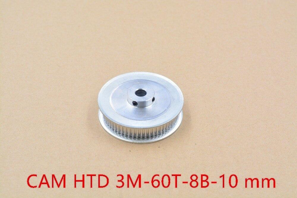 Impressora 3d de alumínio polia HTD 3 M sincronismo 60 furo dentes 8mm apto para largura da correia 10mm- 60T-8B-10 1 pcs