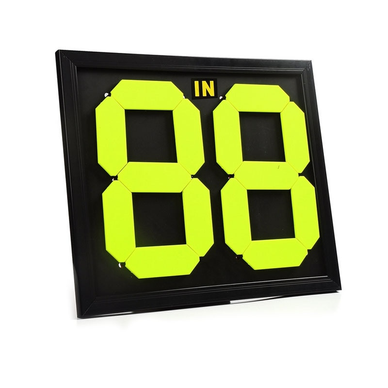 Football Substitute Board 2 Sides Soccer Substitution Plate Sports Referee Change Play Boards