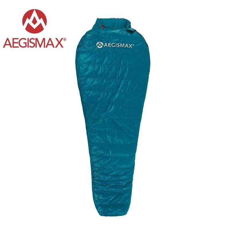 AEGISMAX Outdoor Camping Ultralight Mummy 95% 800FP Goose Down Sleeping Bag Spring Autumn Winter Tent Light weight Sleeping Bag