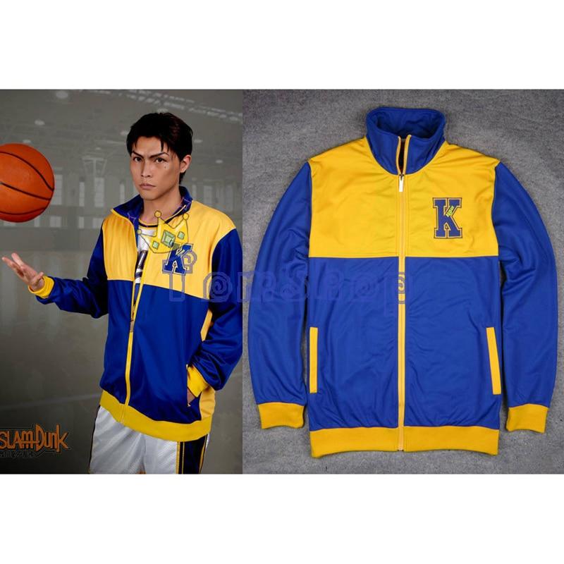 Anime SLAM DUMK Kainan High School Basketball Team Cosplay Costume Warm up Jacket Coat Sports Wear Team Uniform Size M L XL XXL