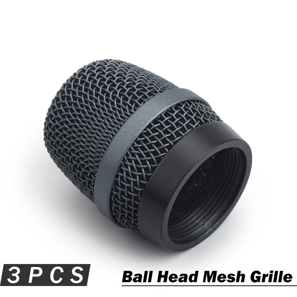 3 stück Top Qualität Export Version Dent Beständig Kopf Mesh Mikrofon Grille Ball Abdeckung für Sennheiser e935 e945 Zubehör