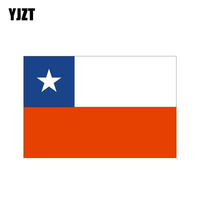 YJZT 11.4CM*7.5CM Accessories CHILE Flag Creative Body Car Sticker Decal 6-0746