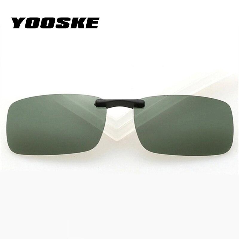 YOOSKE Мужские поляризационные солнцезащитные очки для женщин и мужчин, очки ночного видения для вождения, мужские и женские очки на клипсах, солнцезащитные очки против UVA UVB
