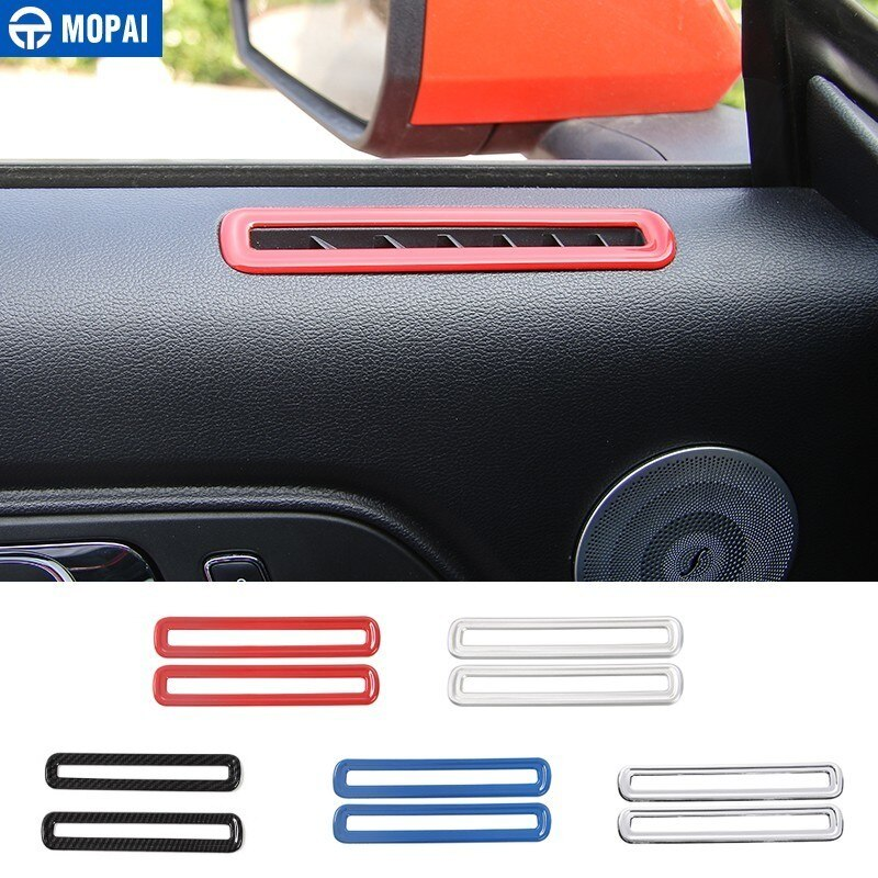 MOPAI ABS coche para lado Interior Puerta de aire acondicionado salida decoración de la cubierta de la etiqueta engomada para Ford Mustang 2015 accesorios de coche