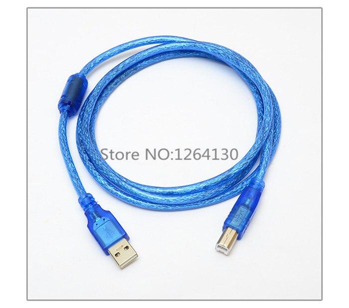 0,25 M-1,5 M 5FT USB 2,0 Cable de impresión de extensión A macho A B macho Cable para impresora transparente azul extendido AM/BM