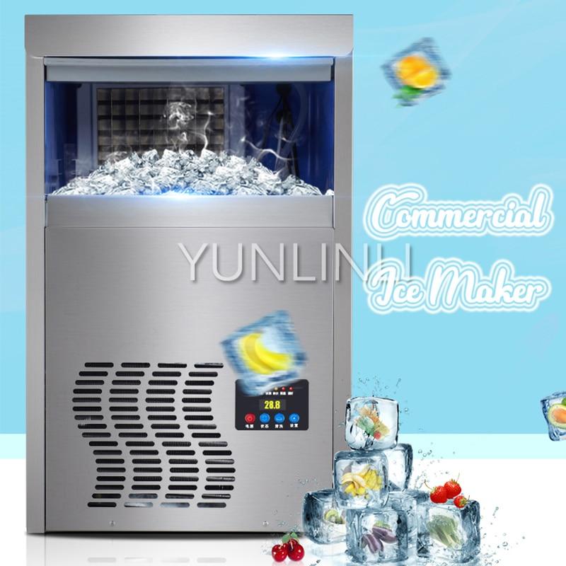 Commercial Ice Machine Square Ice Making Machine  Intelligent Ice Maker  Temperature Control HZB-50t